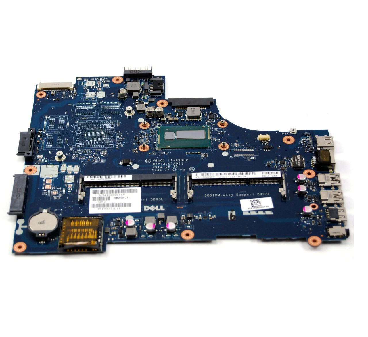 NEW Dell Inspiron 15R 3521 5521 Intel Motherboard 3H0VW 6H8WV YN8TC LA-9104P