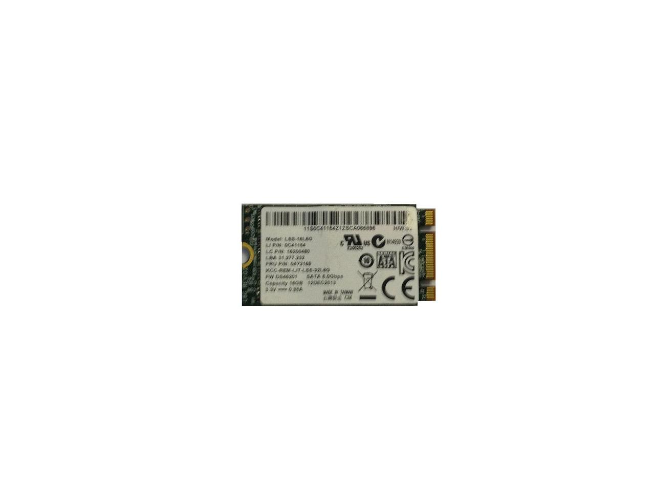 Lenovo U530 Touch LiteOn 16GB SSD mSATA Solid State Hard