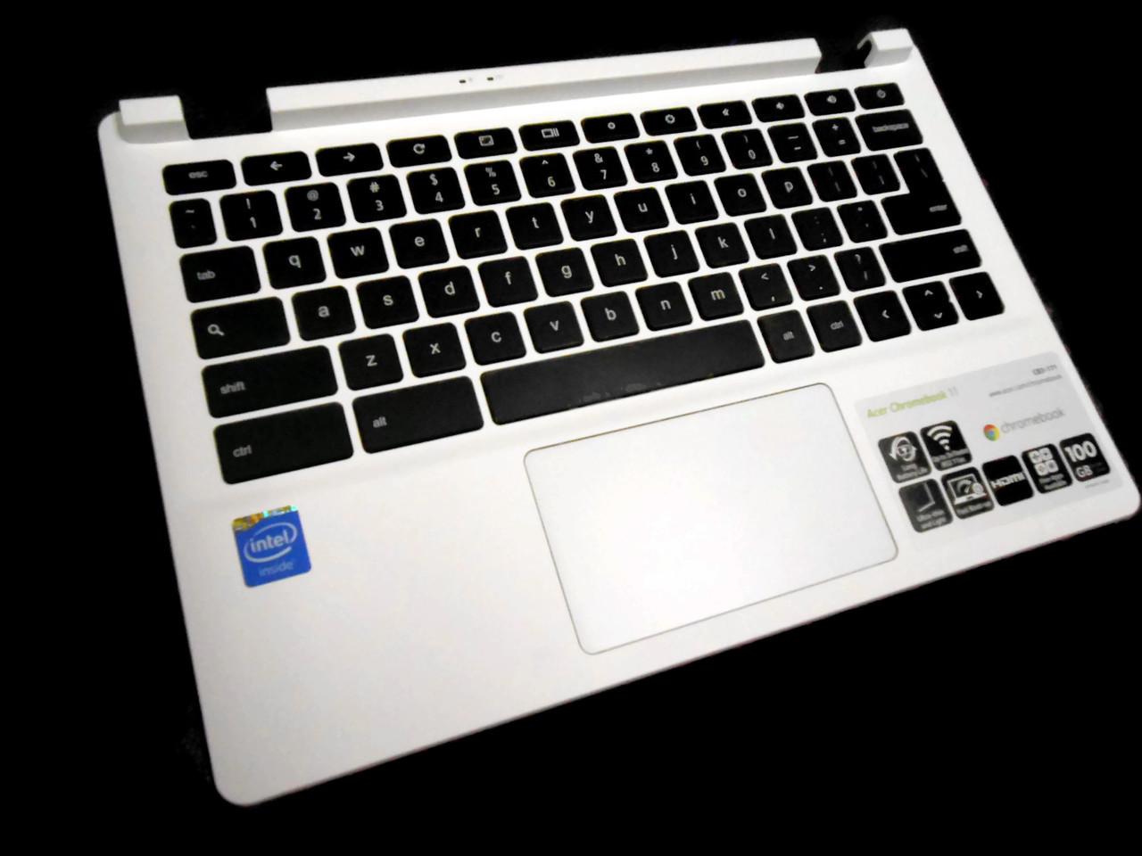 Genuine Acer Chromebook 11 CB3-111-C8UB   Palmrest Keyboard WHITE