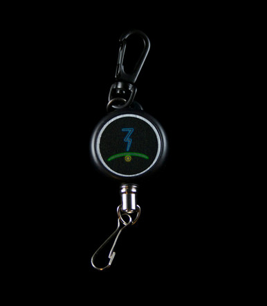 Lanyard - glyph view - Made of braided cable wire and metal spring hooks to attach your Launch Box safely to you - Retractable to easily vape without having to detach your Launch Box - Flower of Life on one side, glyph on the other - Magic-Flight