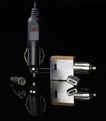 Power Adapter 3.0 includes: - (1) Power Adapter 3.0 Rheostat  - (1) Magnetic Connection cable to A/C or 12v Adapter - (1) A/C Wall Adapter Plug for home - (1) 12v Car Adapter Plug for on-the-go