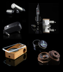 ELITE: Launch Box, Finishing Grinder with round Signature protective tin, Power Adapter, Signature Gift Tin, Magic Sticker Pack, and  Flight Kit = Two-Port Battery Charger,  Two Batteries with protective caps,  Acrylic Draw Stem, Cleaning Brush, and velvet drawstring bag...