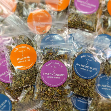 Three different herbal blend varieties delightful to vape alone or mix with cannabis to enhance your experience and stretch your stash.