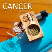 CANCER Launch Box in solid Cherry hardwood