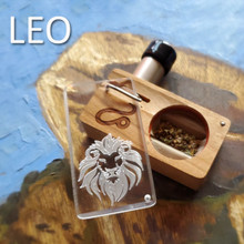 LEO Launch Box in solid Cherry hardwood part of our Zodiac Magic Collection