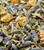 Sweetly Claming Herbal Blend - close-up of herbs - Damiana, Lavender, Lemon Balm, Chamomile Flower - Finely ground for vaporizing in a Launch Box - Clears sinuses, warms the throat and chest, has soothing affect on stomach and intestines - May help balance hormonal swings - Magic-Flight
