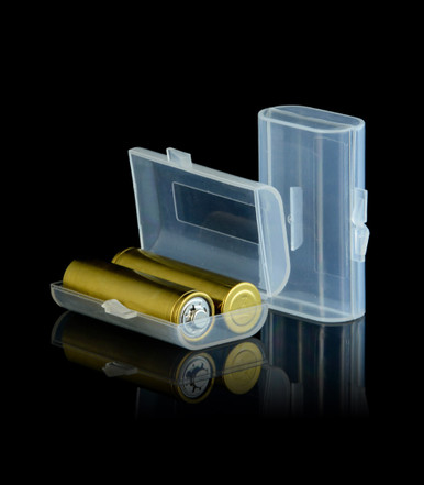2-Cell Battery Case holds two uncapped NiMH AA batteries.