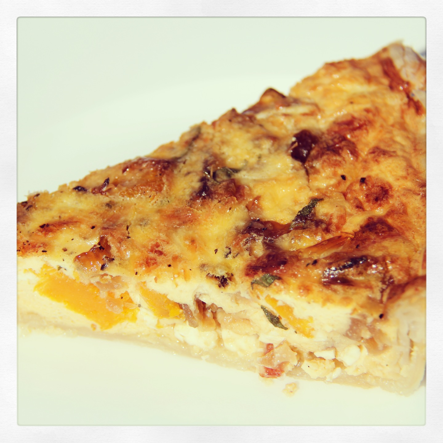 Caramelised Onion, Fetta and Roast Pumpkin Quiche