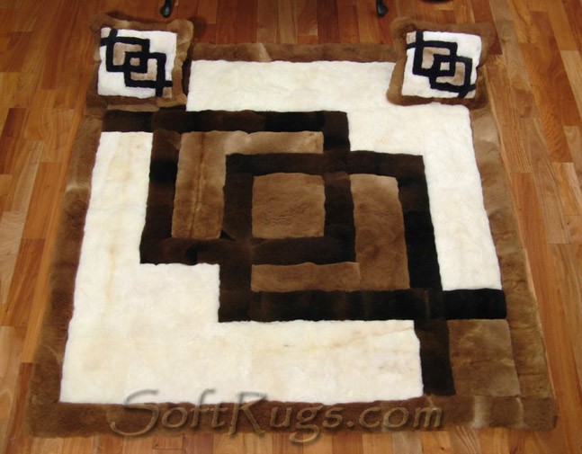 Custom Size Interlocking Squares with Matching Custom Size Pillows
