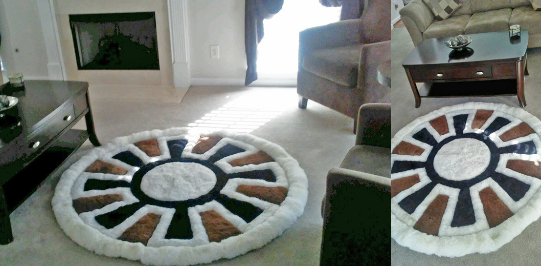Inca Wheel with Special Colors in Living Room