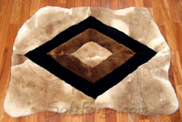Rhombus rug with Irregular Shape
