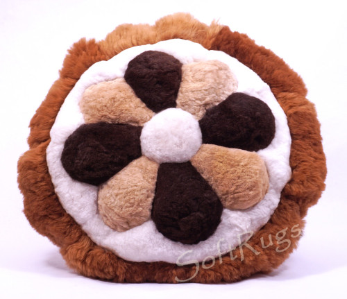 MultiColor Flower Round Alpaca Pillow (Out of stock)