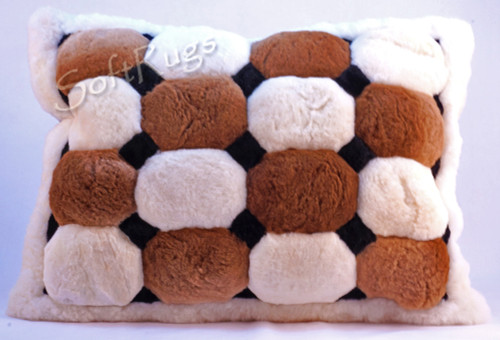 Colored Puffs Alpaca Fur Pillow (Large Size Now 20% Off!!)(Out of stock on 16x24)