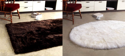 Rectangular and Oval Shaped Longwool Rugs