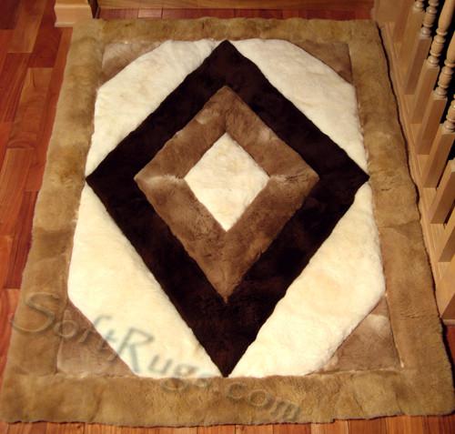 Rhombus Alpaca rug