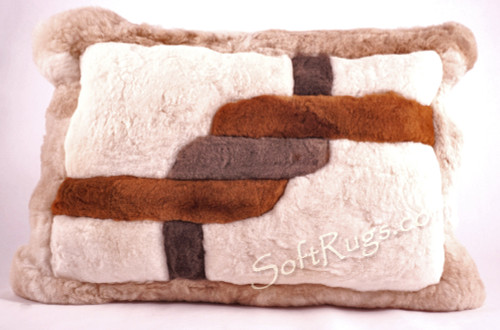 Soga Pattern Alpaca Fur Pillow  (Now 20% Off!!)
