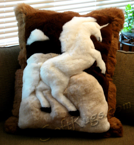 Unicorn Pattern Alpaca Pillow
