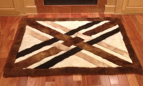 Weave Design Alpaca Fur Rug (Out of stock)