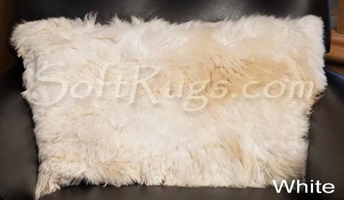 16 x 24 Suri Alpaca Fur Pillow in Cream (white)