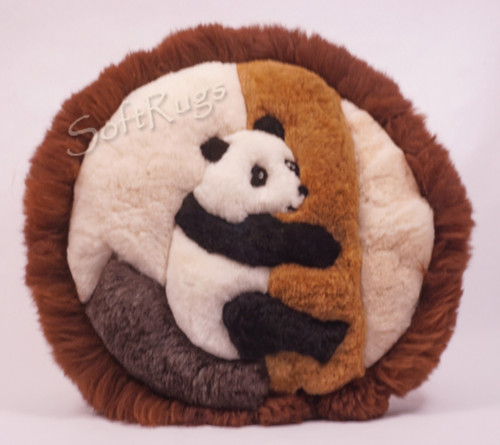Panda In Tree Round Alpaca Pillow (Out of Stock)