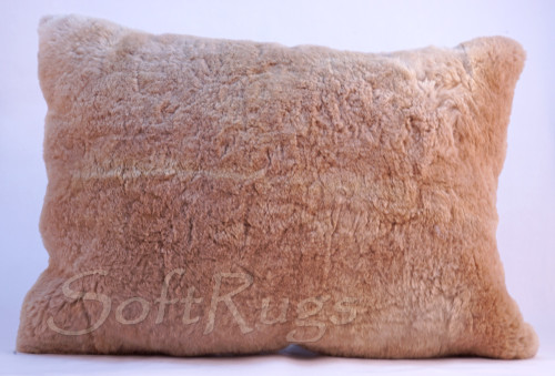 Alpaca Fur Pillow - Solid Beige (16x24 Out of Stock)
