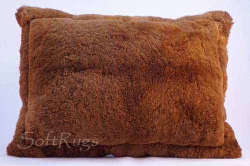 Alpaca Fur Pillow - Solid Brown (Baby Alpaca, 24 x 32 Out of stock)
