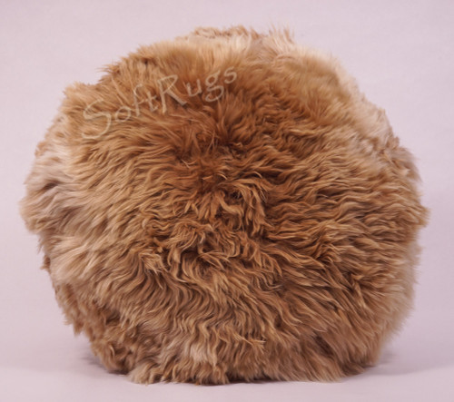 20in Round Suri Alpaca Fur Pillow in Beige