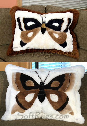 Butterfly Pattern Alpaca Pillow