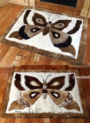 Butterfly Pattern Alpaca Rug