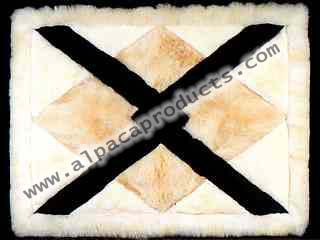 Rectangular Overlaid Arrows Design Alpaca Rug.