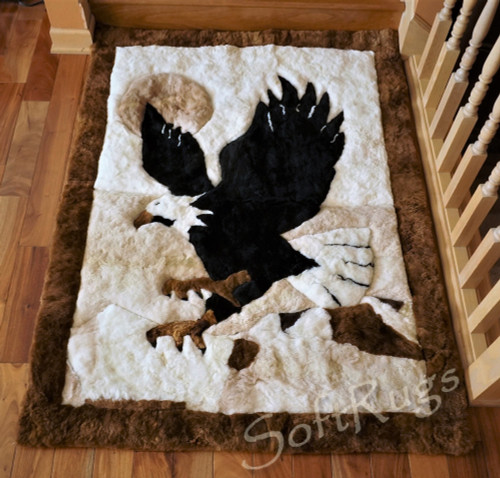 Eagle Landing Alpaca Fur Rug (24x32 and 4x5ft4in Out of Stock)