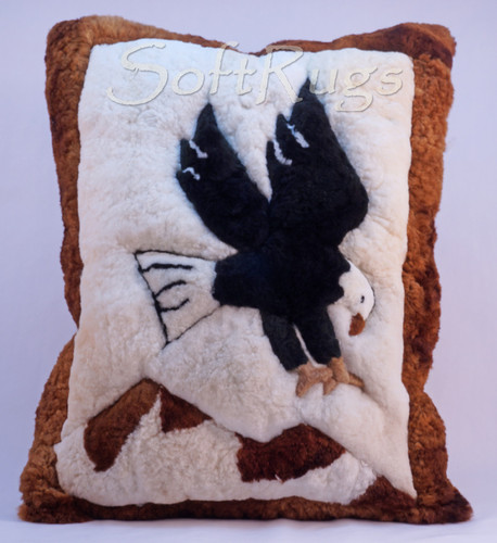 Eagle Landing Alpaca Fur Pillow - Special Order Only