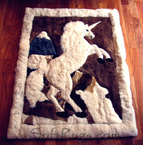 Unicorn Alpaca Fur Rug (24x32 ON SALE, 2ft8 x 4ft Out of Stock)