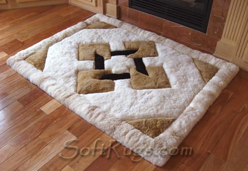 Flotante Pattern Alpaca Fur Rug
