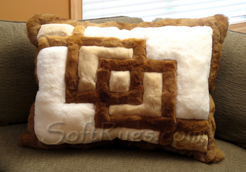 Interlocking Squares Alpaca pillow