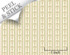 Bouquet Stripe, Green. 1:48 quarter scale peel and stick wallpaper