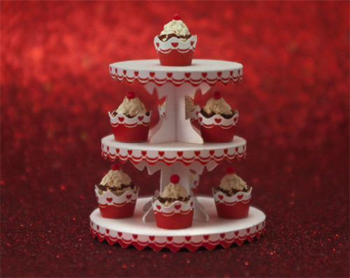 Valentine Dessert Tower and Cupcake Wrappers Kit