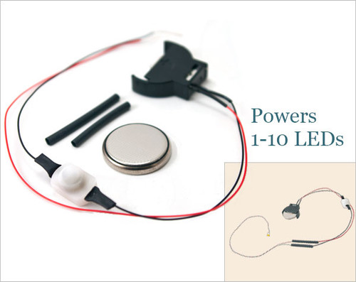 Coin Cell Battery Holder and Switch Unit for 3V LEDs