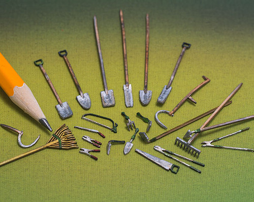 quarter scale, 23 piece garden tool set