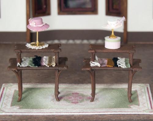 2 1:48 scale display tables for the C'est La Vie boutique