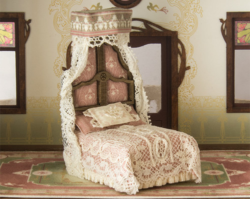 1:48 scale Art Nouveau style bed kit