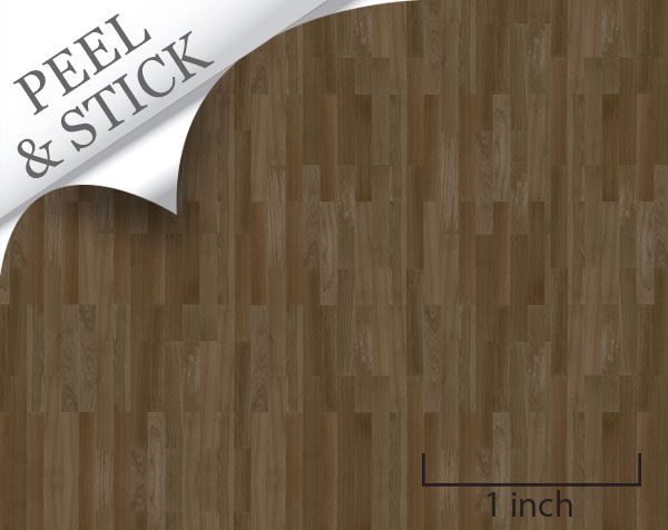 peel and stick flooring walnut color random plank for quarter scale dollhouse miniatures - Peel And Stick Flooring