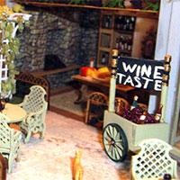 wine tasting scene