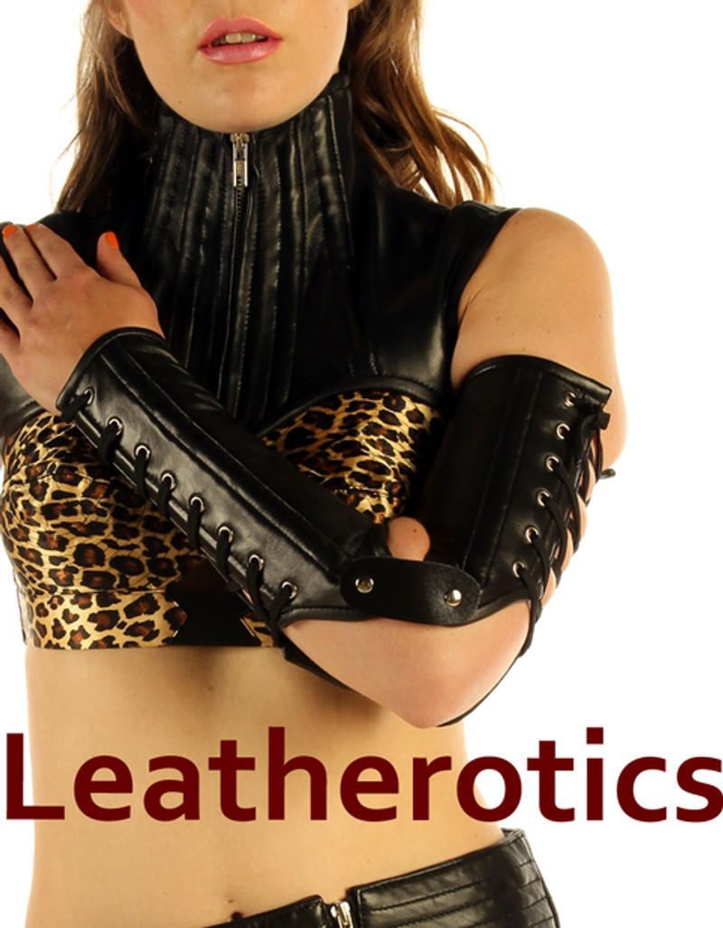 Full Grain Leather Gauntlets Lace Up Arm Gloves Steampunk