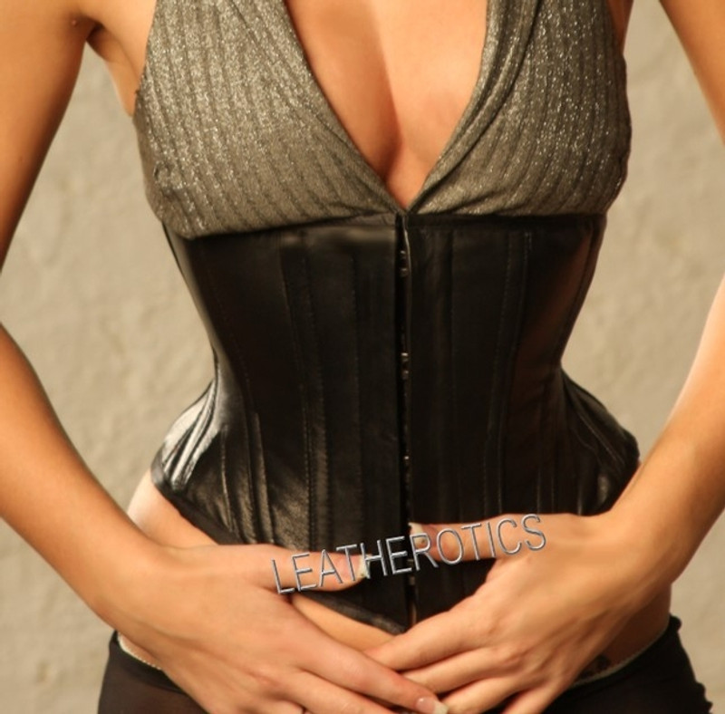Super Strong Leather Corset Underbust Back Lacing Waspie 1214 plus size