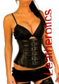 under bust leather corset