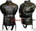 Full Grain leather bondage straitjacket body binder