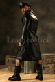 Leather Steampunk Military Coat Mens Jacket Gothic Antique top
