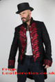 Men's Tailcoat Morning Dress Victorian jacket Top Red STP7