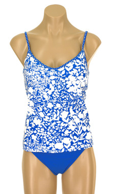 08389045bc Tankini Top with Soft Cups in Shelf Bra and Adjsutable Straps Field ...